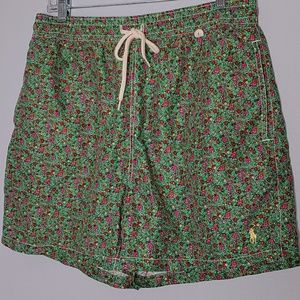 Polo by Ralph Laurena floral Swim Trunks size L